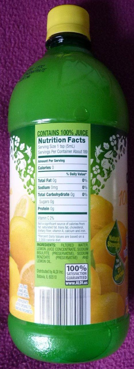 Nature S Nectar Lemon Juice