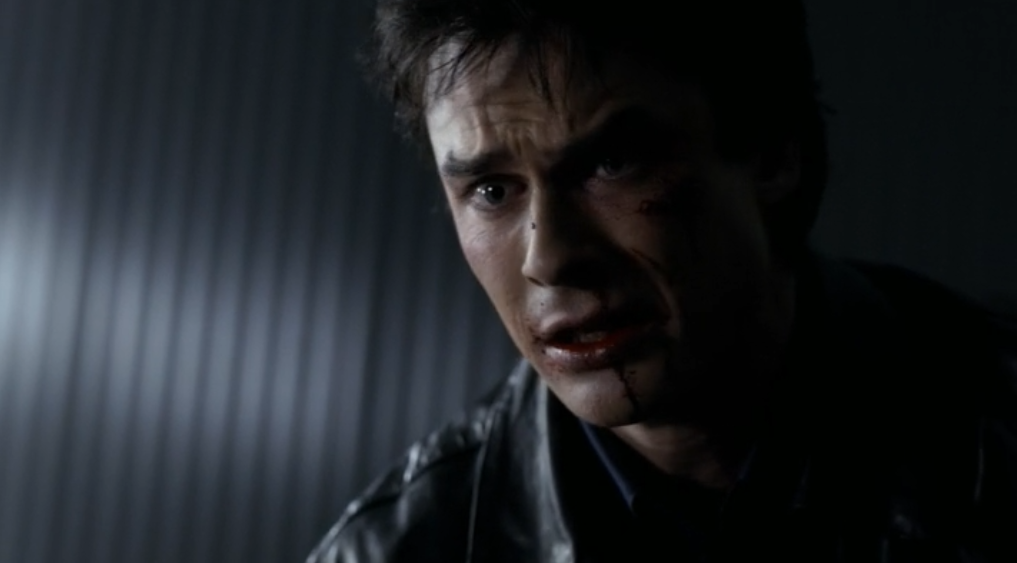 damon salvatore vampire face