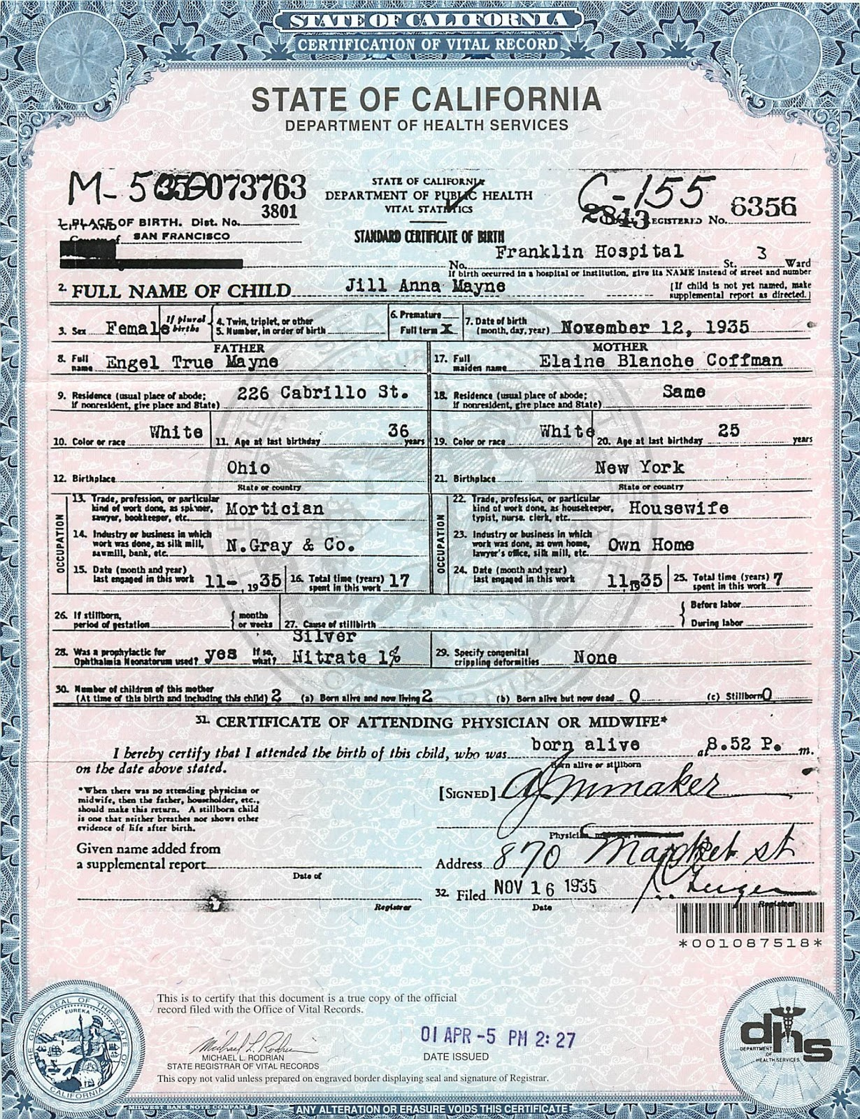 Ancestorpuzzles 2016 state issued birth certificate xflitez Gallery