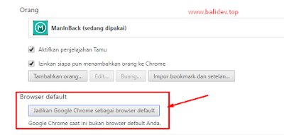 Browser Chrome Default windows 10