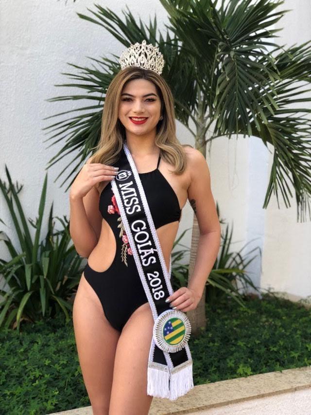Cristina Gatti, Miss Goiás 2018, em traje de banho. Foto: Divulgação