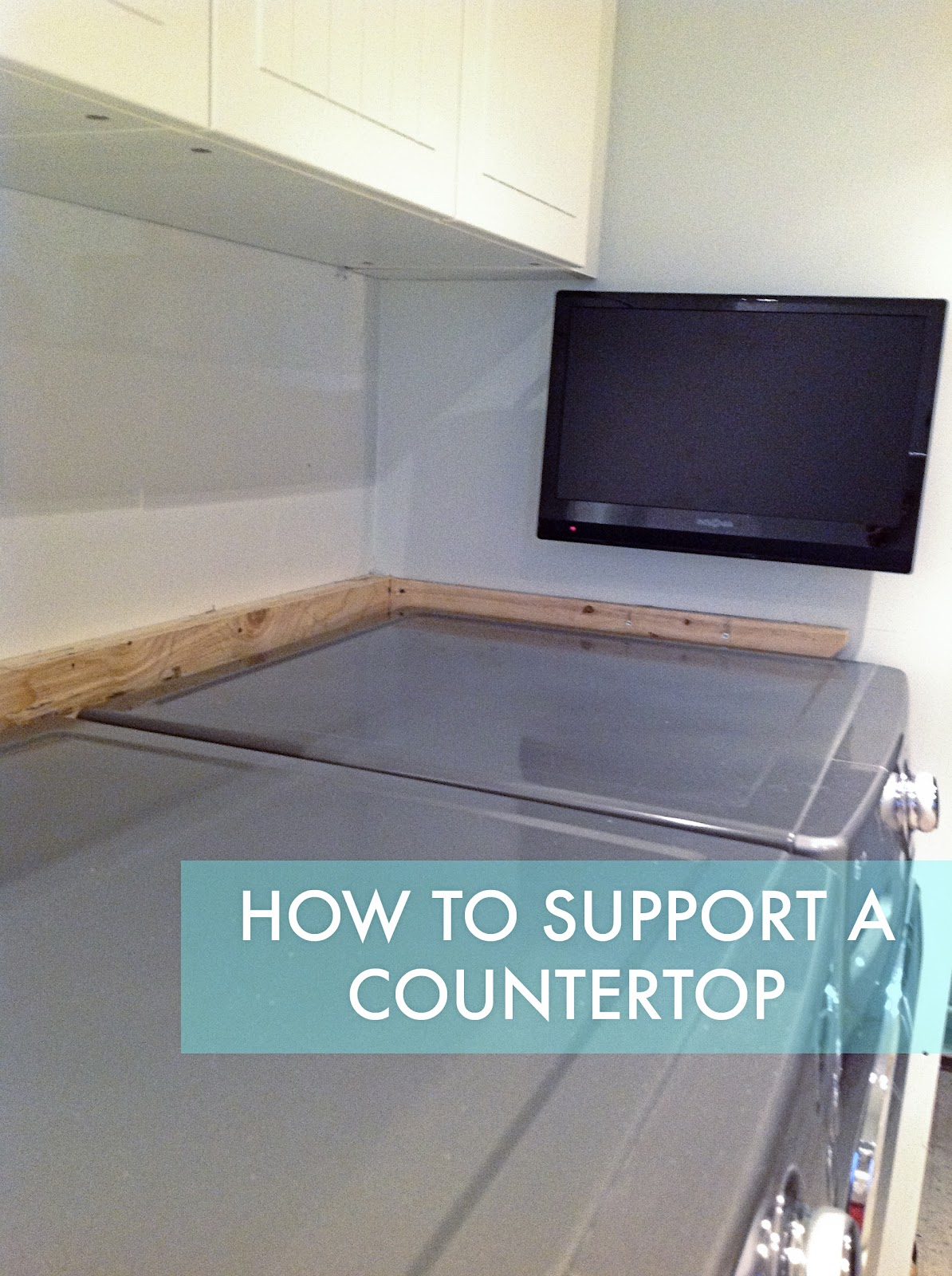 Laundry Room Countertop Material How To Support A Laundry Room Countertop Over A Washer And Dryer