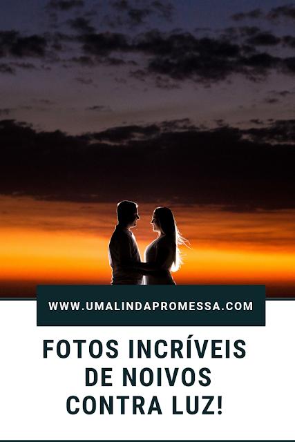Ideias de fotos de noivos contra luz