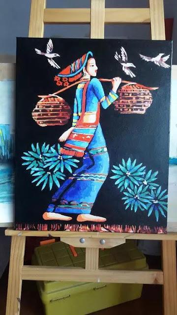 Tranh son dau so hoa tai Phu Linh