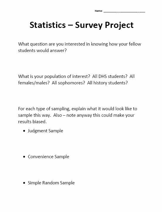 Math \u003d Love Statistics Survey Project