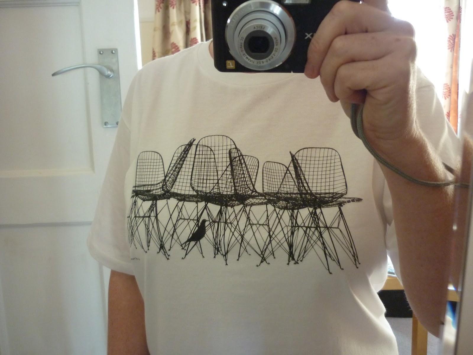 Front view of Eames Exhibition T-shirt | Petite Silver Vixen