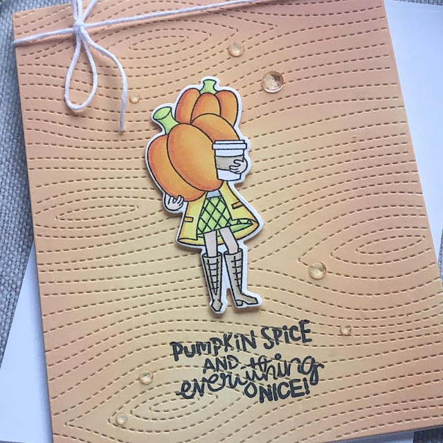 Pumpkin Spice and Everything Nice Card by October Guest Designer Noga Shefer | Pumpkin Latte Stamp Set by Newton's Nook Designs #newtonsnook #handmade