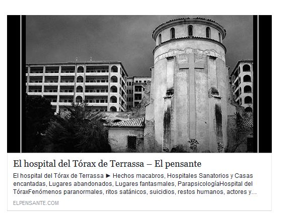 Hospitales Sanatorios y Casas encantadas, Lugares fantasmales