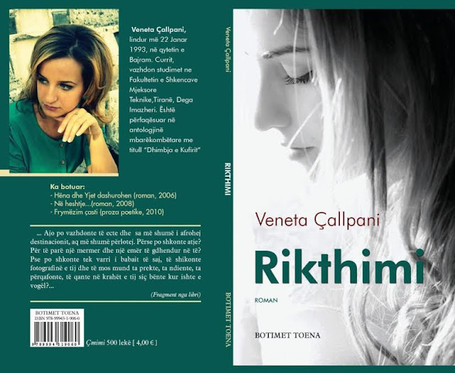 "Kopertina e Librit ""Rikthimi"" i Autores Veneta Çallpani"