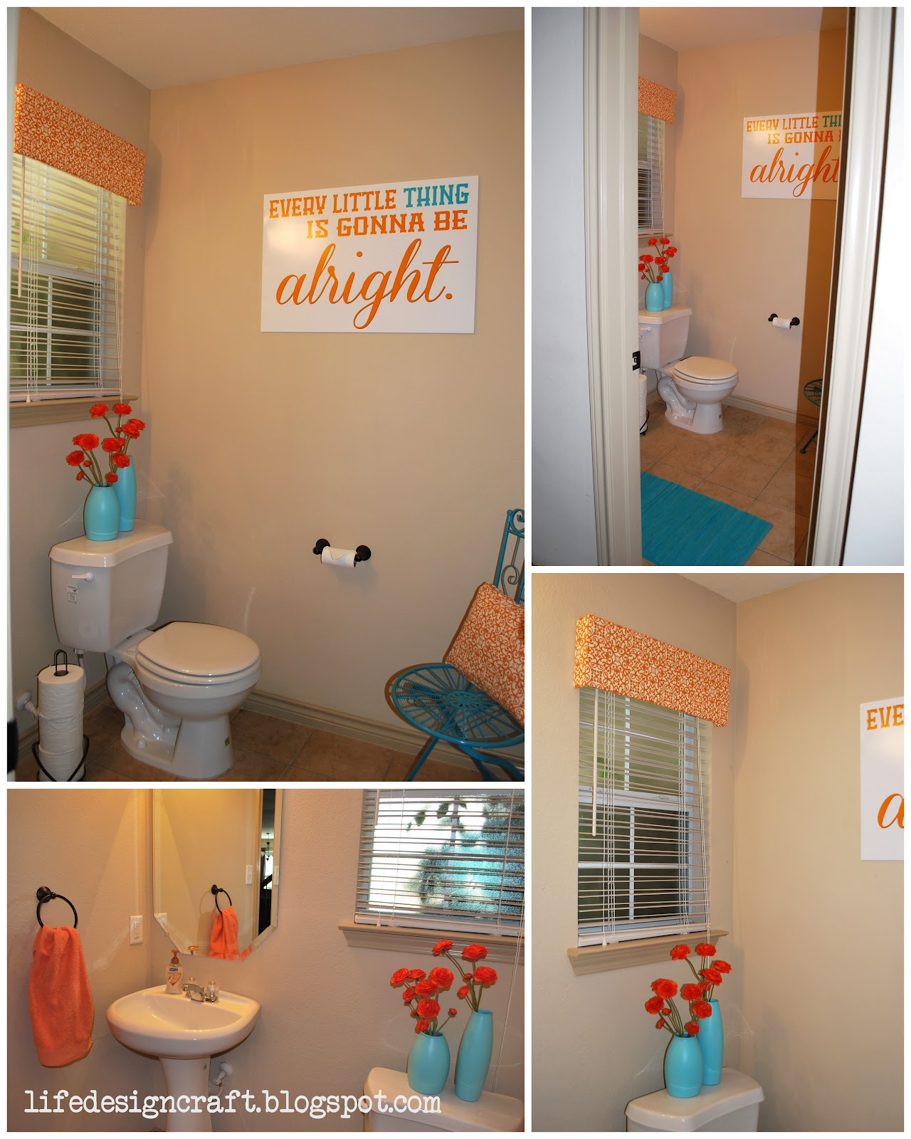 "Bathroom Art Orange: Life.Design. And The Pursuit Of Craftiness: ""I Just Wanna"