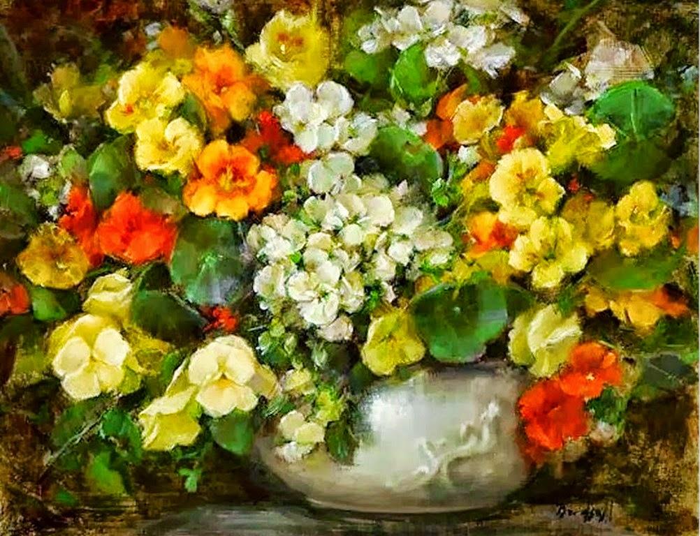 Imágenes Arte Pinturas: Arreglos Florales Para Pintar al