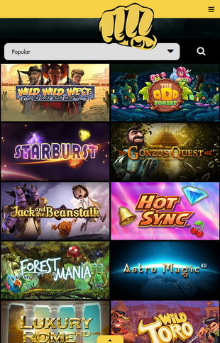 Bethard Casino Games Screen