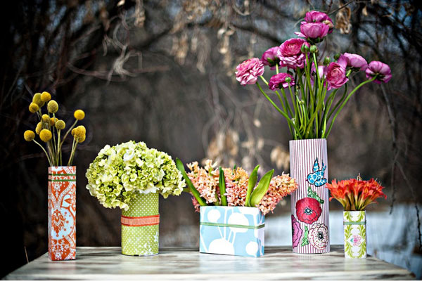 Juneberry Lane Chic  Affordable Centerpieces The Wrapped Vase