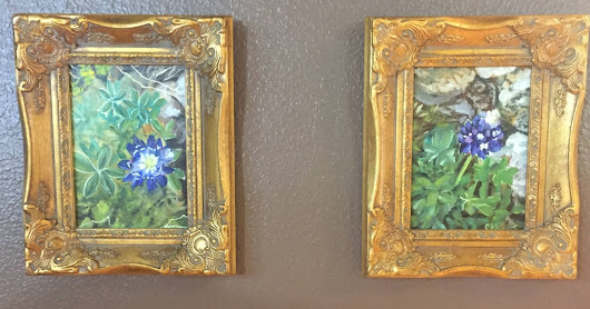 Bluebonnets, by Melissa A. Torres, 5x7 oil on canvas panel, framed