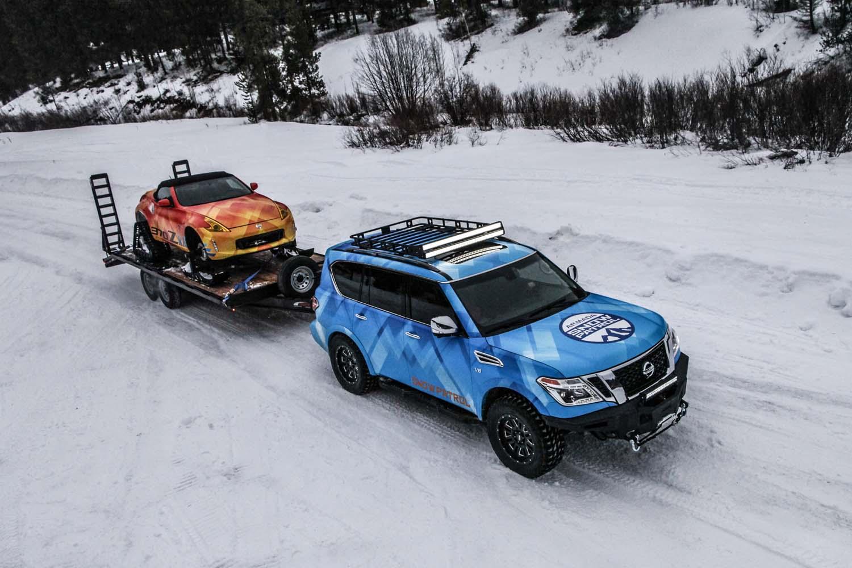 """Σαλόνι Αυτοκινήτου του Σικάγο: Η Nissan αποκαλύπτει τα  """"χειμερινά"""" 370Zki και Armada Snow Patrol"""