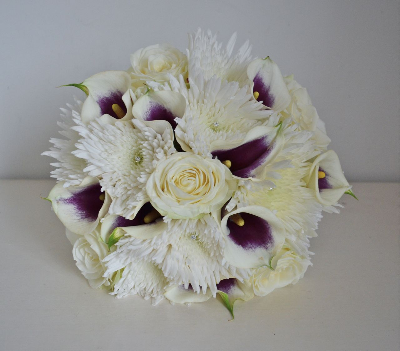 Purple And White Wedding Flower Bouquets: Wedding Flowers Blog: Kirsty's Guy Fawkes Night Wedding