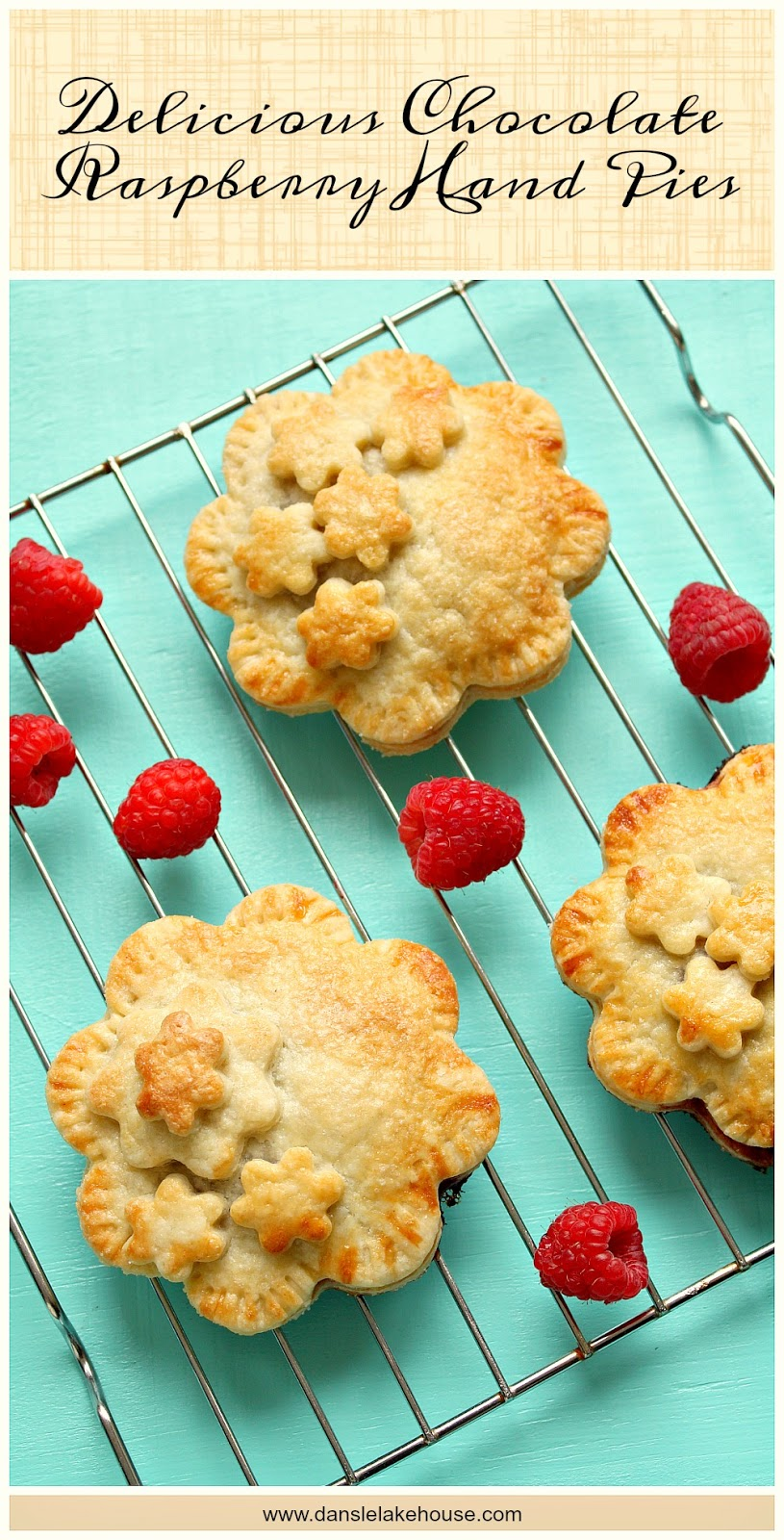 Chocolate Raspberry Hand Pie - So easy, so delicious | www.danslelakehouse.com