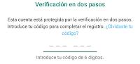 pantalla verificacion whatsapp