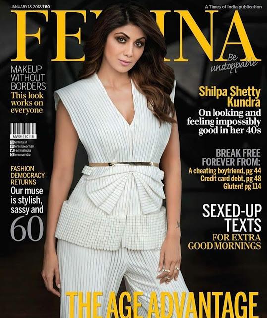 Shilpa Shetty on Femina January 2018 Issue