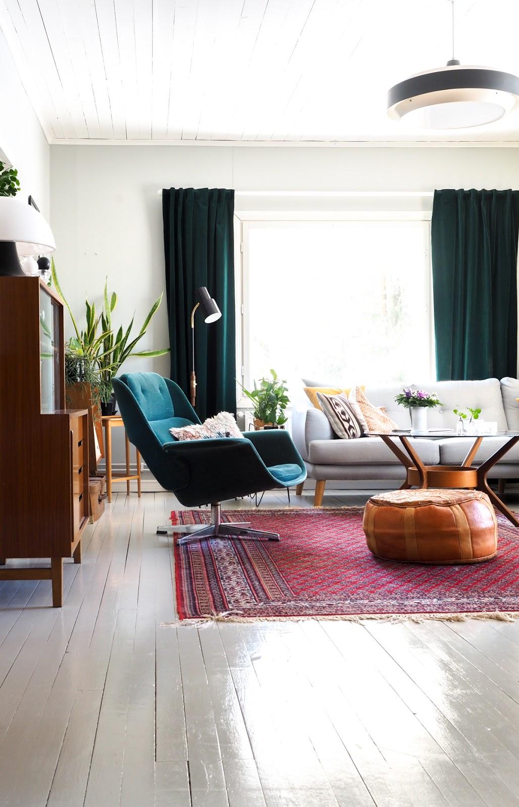 60-luvun nojatuoli, retro nojatuoli, Rondo, Asko, vintage
