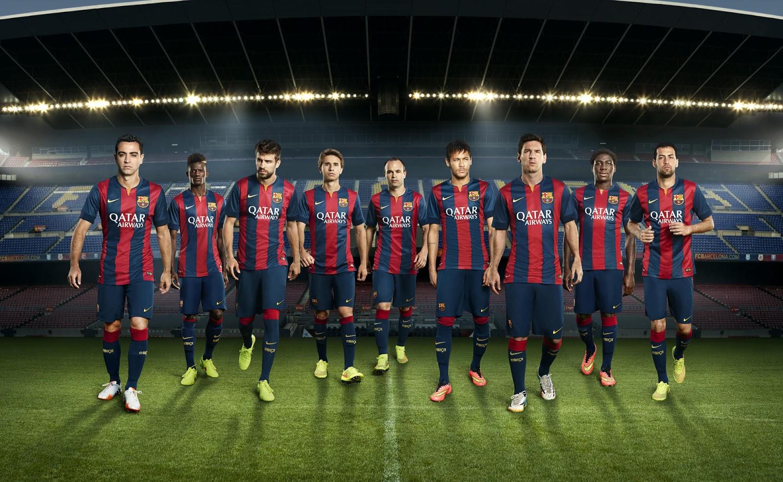 FC Barcelona 14-15 (2014-15) Home, Away and Third Kits - Footy Headlines