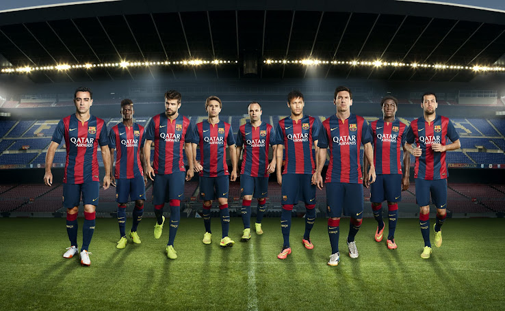 New Nike FC Barcelona Home and Away Kits (2014-15) *Images*