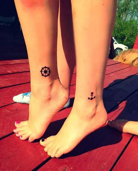 simple Mother Daughter Tattoos