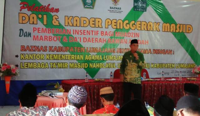 Pelatihan Dai dan Kader Penggerak Masjid serta Pemberian Insentif Muazin, Marbot, dan Dai