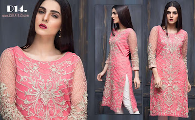 Areeba saleem designer kurti lawn collections for girls