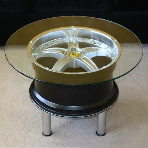 Wheels mania come riciclare cerchi per auto facendoli for Pezzi di arredamento