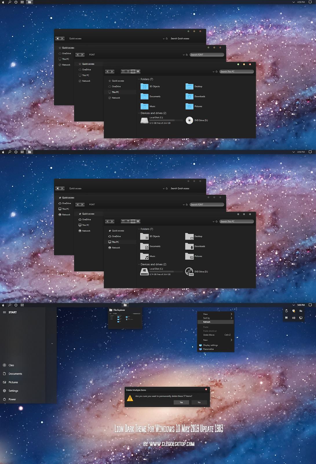 Lion Dark Theme For Windows10 May 2019 Update 1903