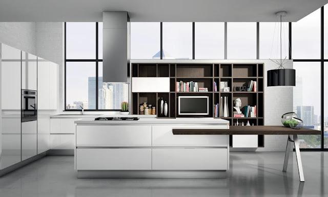 Thiết kế tủ bếp kiểu ý