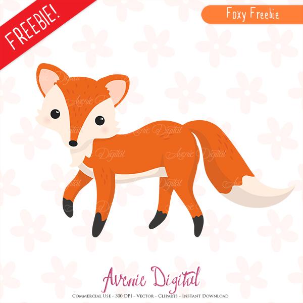 Free Cute Fox Clipart Scrapbook printables, Autumn clip art