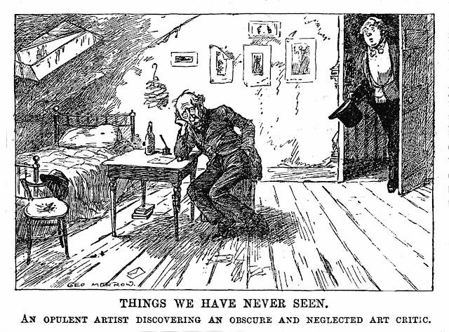 George Morrow cartoon 1911, artist cartoon, Things we have never seen
