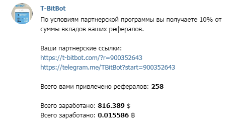 Активность инвесторов в T-Bitbot