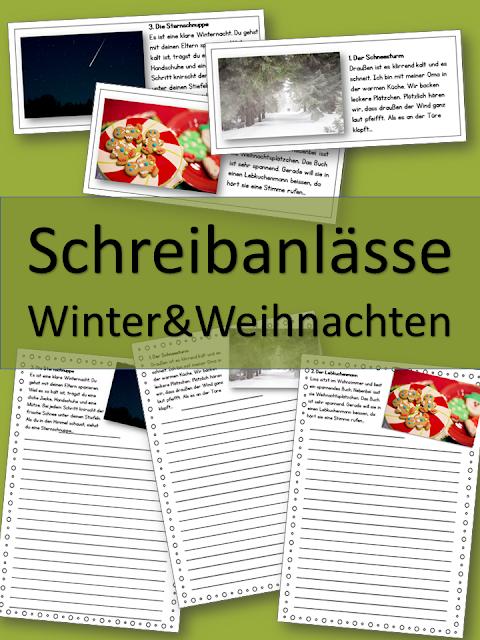 Winter und Weihnachten Schreibanlässe ab der 4. Klasse.