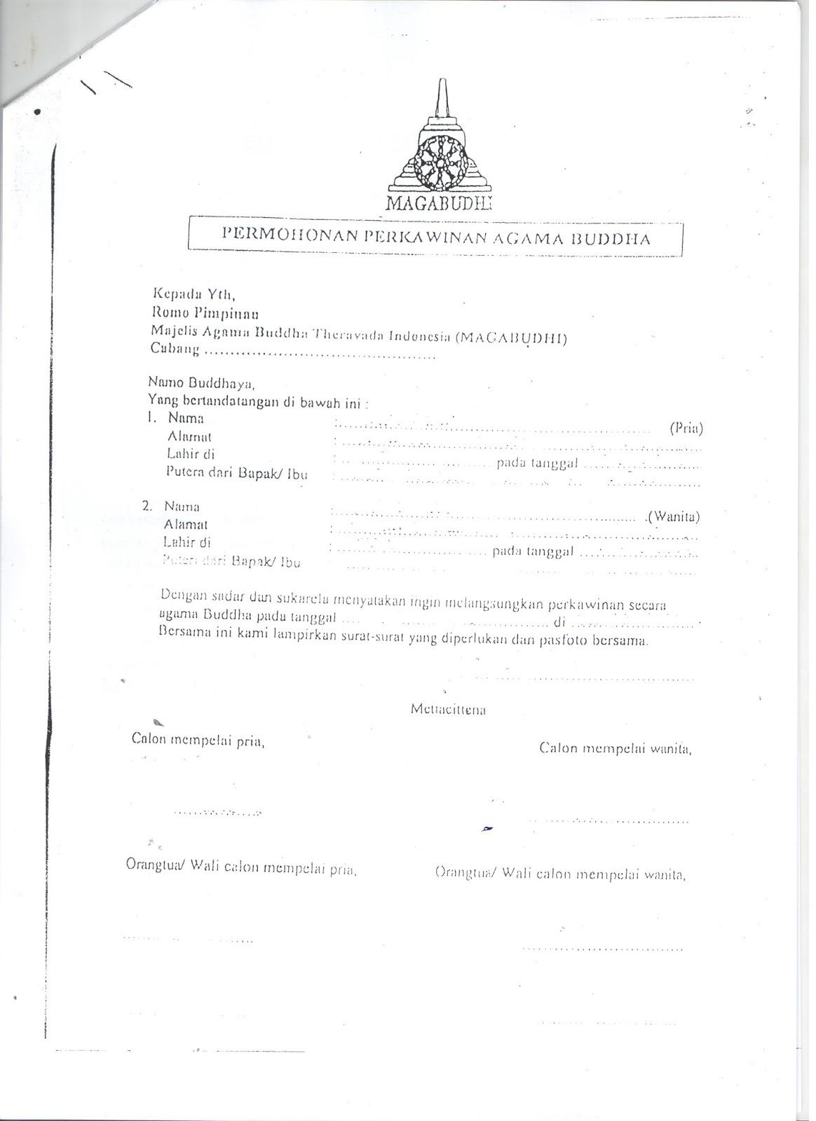 Contoh Surat Nikah Suratmenuhargacom