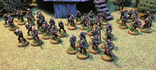 Five squads of Rebels forming a Platoon for Star Wars Legion