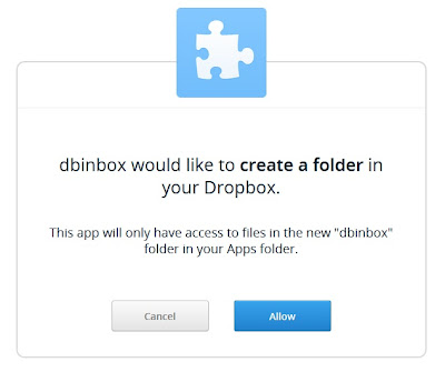 Use Dropbox as Inbox to Receive Files