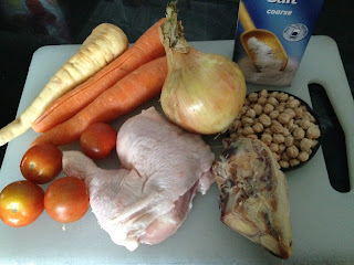 Caldo de pollo, ingredientes