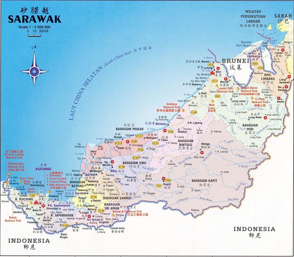 Peta Sarawak