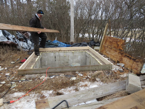 framing for a well pit cover
