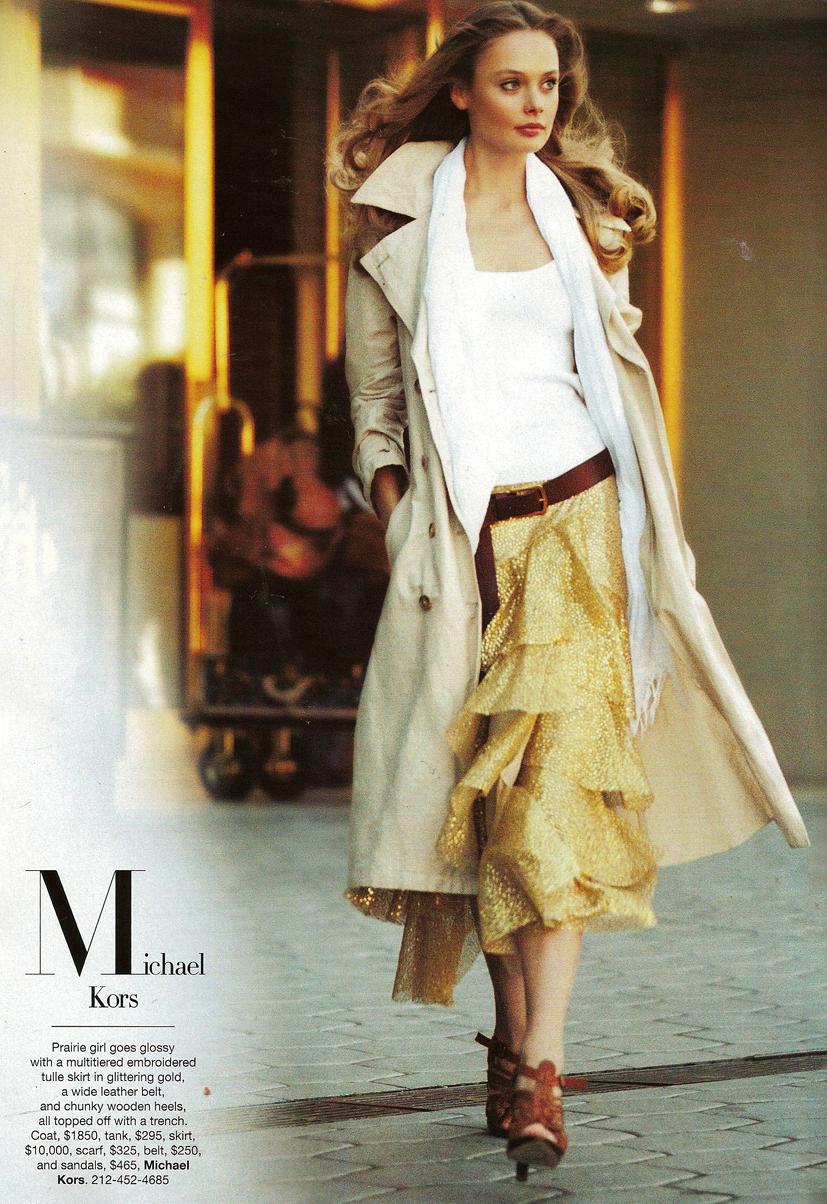 Inguna Butane in Michael Kors for American Classics / Harper's Bazaar US January 2005 (photography: Alexi Lubomirski) / exclusive interview / via fashioned by love brutish fashion blog