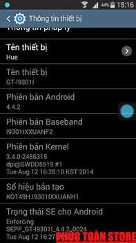 Galaxy S3 Neo I9301I mở mạng và nạp tiếng Việt ok alt