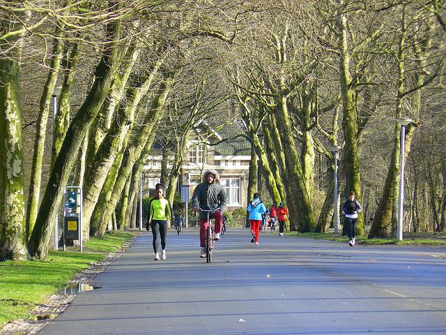 Vondelpark para deficientes físicos em Amsterdã