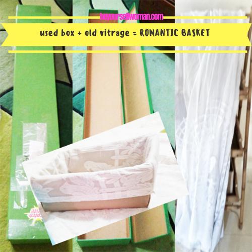 DIY Box Bekas dan Vitrage Lama Jadi Kotak Cantik