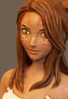 statuina personalizzata final fantasy viso particolare ravvicinato preciso orme magiche
