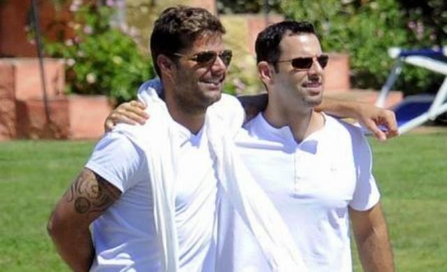 Ricky Martin y su novio, 1