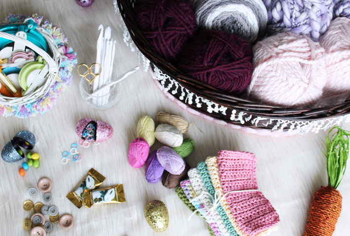 DIY Dream Crocheter's Easter Gift Basket