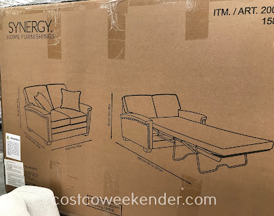 Costco 2000765 - Synergy Brycer Fabric Sleeper Sofa: both a couch and a bed